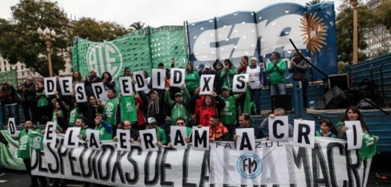 FUERTE PARO NACIONAL DE ATE Y GREMIOS ESTATALES