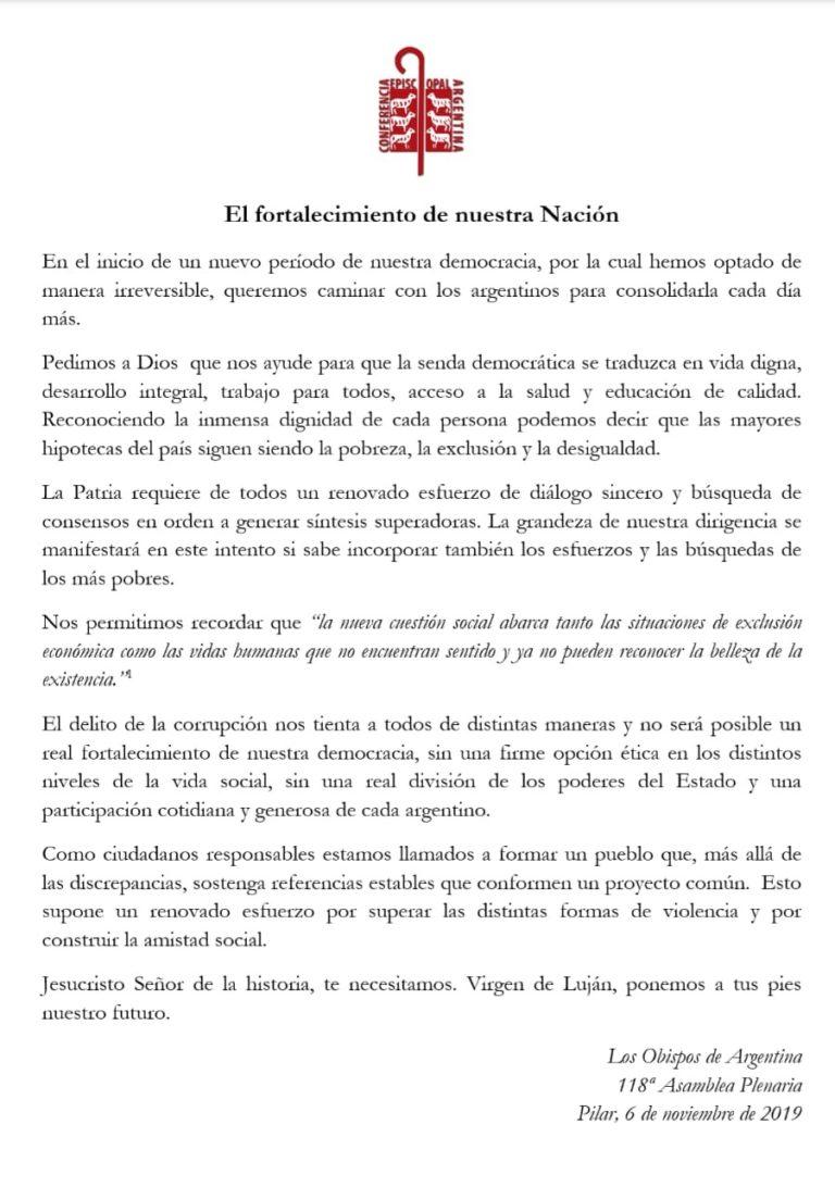 118 ASAMBLEA PLENARIO DE CONFERENCIA EPISCOPAL